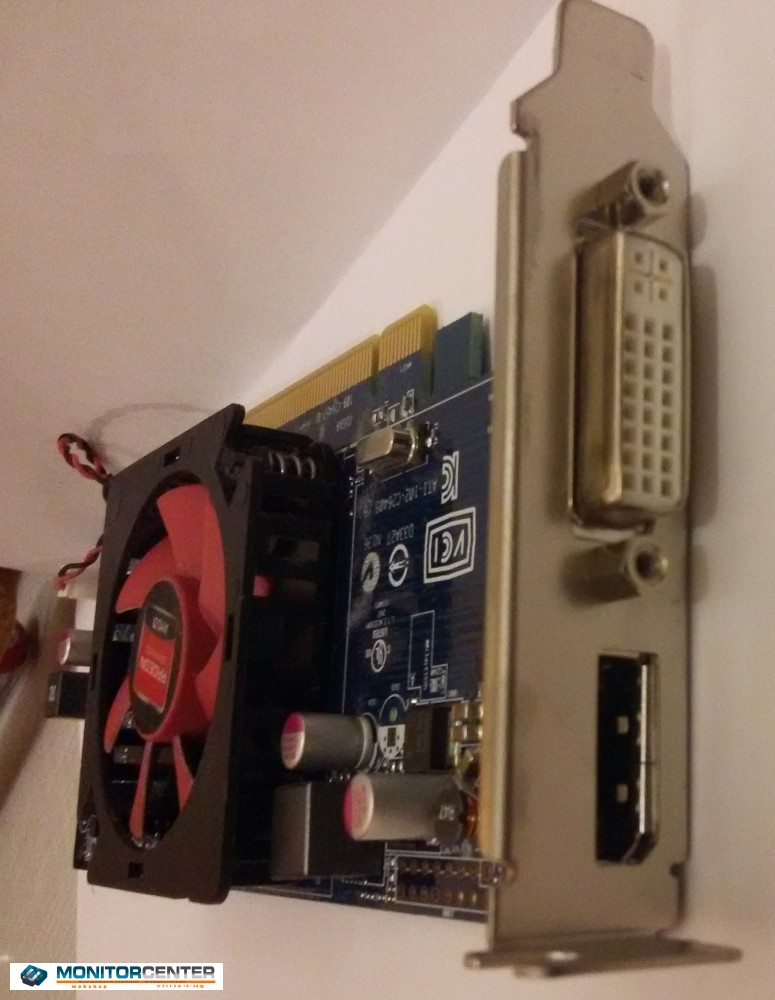 AMD Radeon HD 7000 széria /DVI/DISPLAYPORT használt VGA kártya alacsony profil!!! 1GB